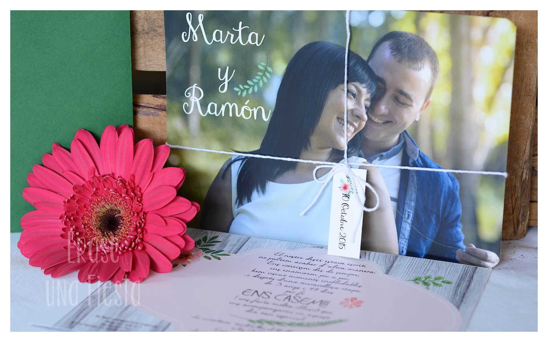 invitación boda Marta y Ramon por Erase una Fiesta