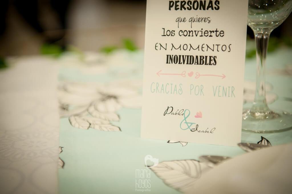 Detalle minuta boda Isa y Pablo por Erase una Fiesta