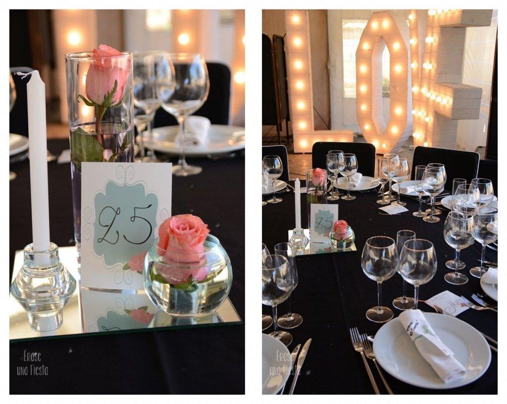decoración salón y mesas