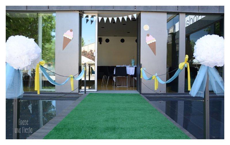 Decoración entrada Comunion temática helados por Erase una Fiesta