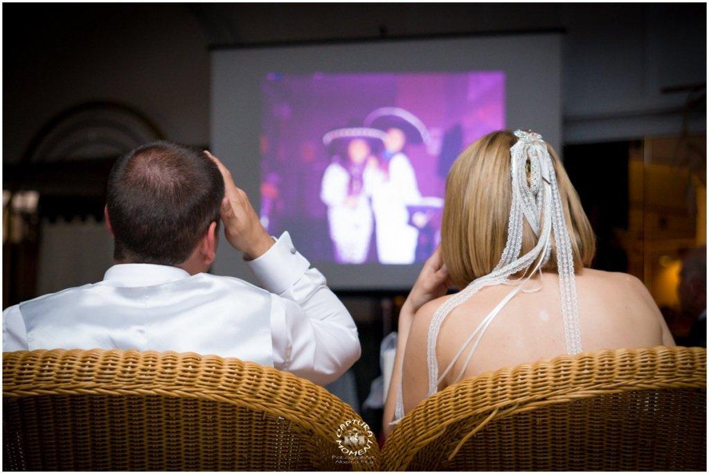 video sorpresa durante el banquete de boda