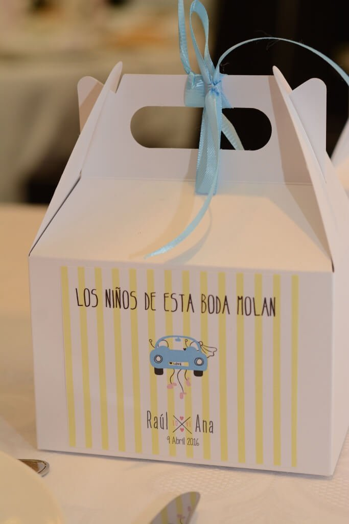 cajita regalo niños para boda