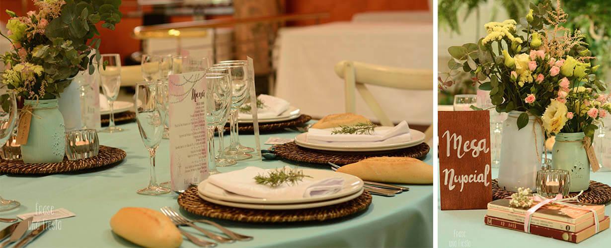 Mesas boda Sandra y Miguel por Erase una Fiesta