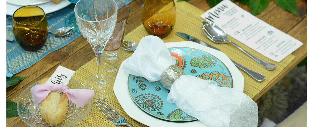mesa fiesta al aire libre
