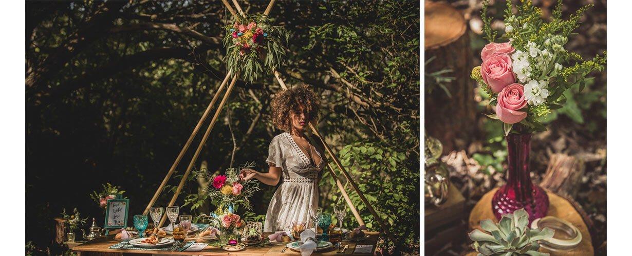 Editorial Love indie forest por Erase una Fiesta y Rafa Molina Fotógrafo