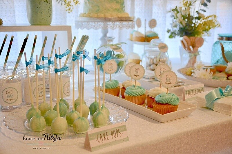 BABY SHOWER mint by Erase una Fiesta